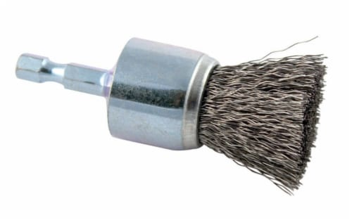 Forney 1 In. Hex .008 In. Drill-Mounted Wire Brush 72737 Perspective: front