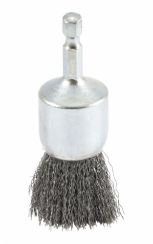 Forney 1 In. Hex .012 In. Drill-Mounted Wire Brush 72738 Perspective: front