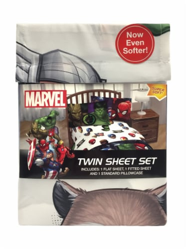 Marvel Avengers Twin Sheet Set Perspective: front