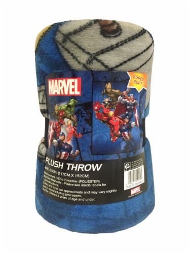 Marvel Avengers Plush Throw Perspective: front