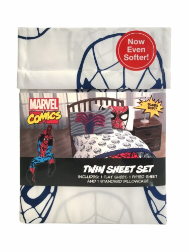 Marvel Spiderman Twin Sheet Set Perspective: front