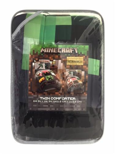 Minecraft Twin Comforter Perspective: front