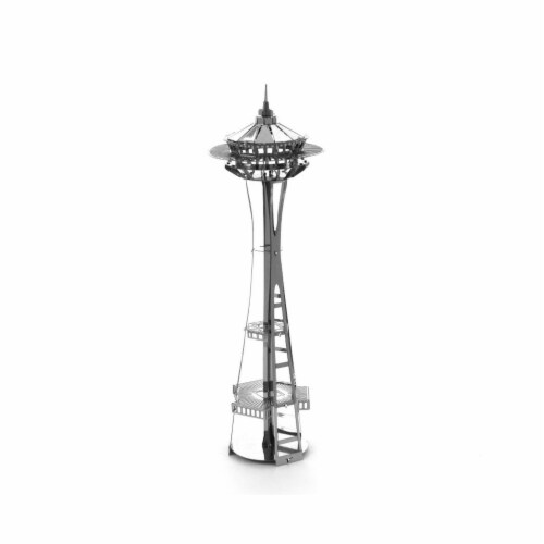 Metal Earth Seattle Space Needle Model Kit Perspective: front