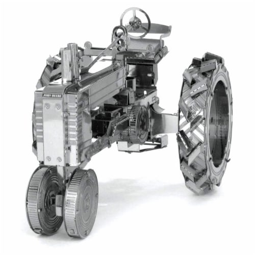 Metal Earth Farm Tractor Model Kit Perspective: front