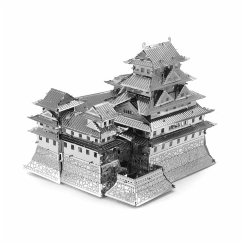 Metal Earth Himejijo Castle Model Kit Perspective: front