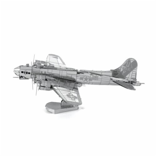 Metal Earth B-17 Flying Fortress Plane Model Kit Perspective: front