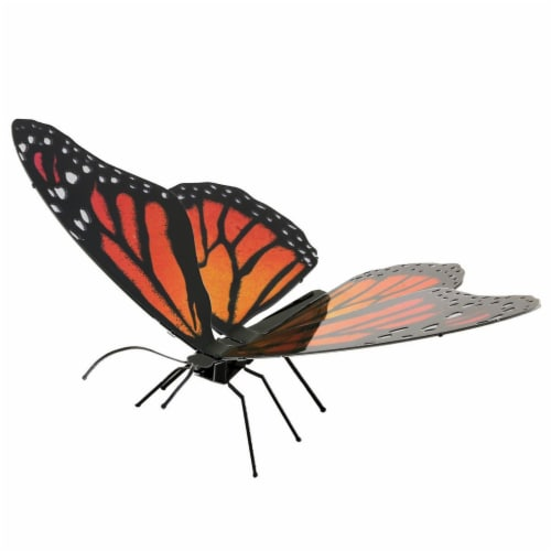Metal Earth Monarch Butterfly Model Kit MMS123 Perspective: front