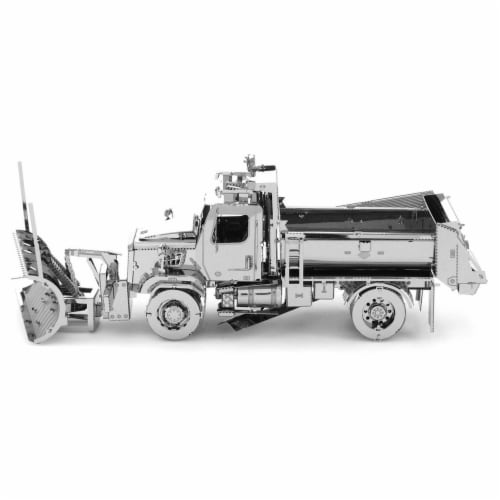 Metal Earth Freightliner 114SD Snow Truck Model Kit MMS147 Perspective: front