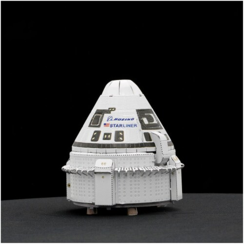 Metal Earth Boeing CST-100 Starliner Model Kit MMS173 Perspective: front