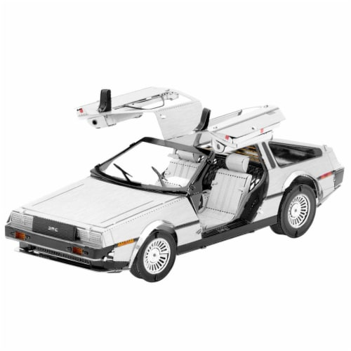 Metal Earth DeLorean Model Kit MMS181 Perspective: front