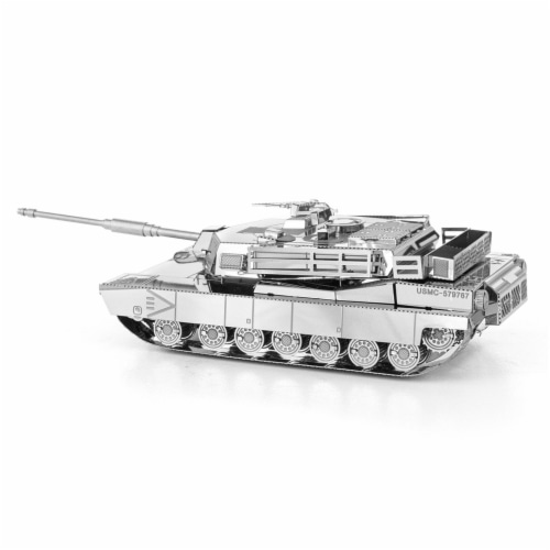 Metal Earth M1 AbramsTank Model Kit MMS206 Perspective: front