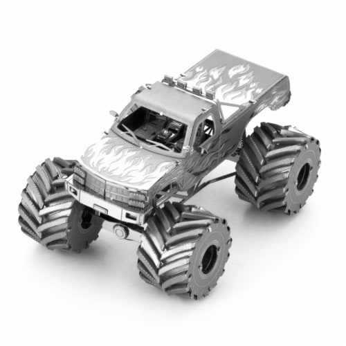 Metal Earth Monster Truck Model Kit MMS216 Perspective: front