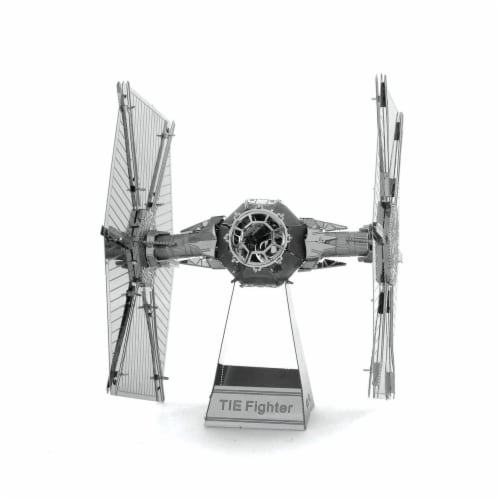 Metal Earth Star Wars Imperial TIE Fighter 3D Model Kit MMS256 Perspective: front