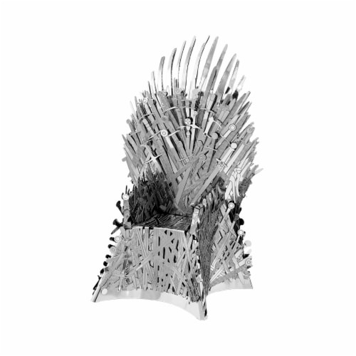 Fascinations Metal Earth ICONX 3D Metal Model Kit Game of Thrones Iron Throne Perspective: front