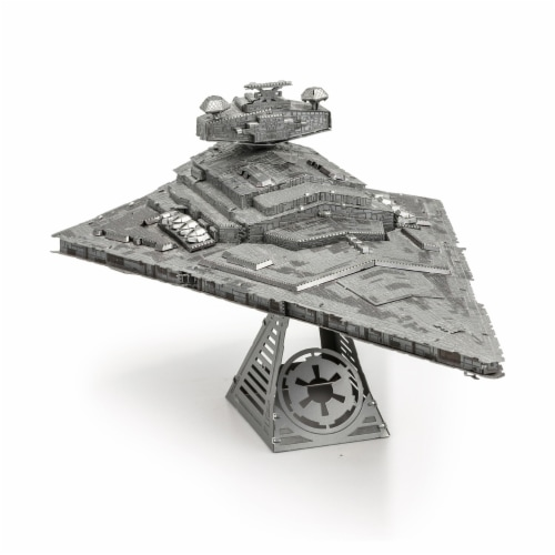 Fascinations Metal Earth ICONX Star Wars Imperial Star Destroyer 3D Metal Model Kit Perspective: front