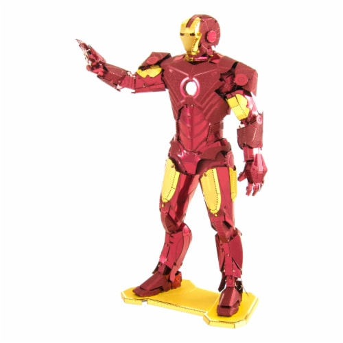 Fascinations Metal Earth 3D Marvel Avengers Iron Man Metal Model Kit Perspective: front