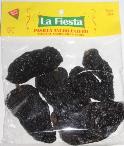 La Fiesta Pasilla Ancho Entero Chile Pods Perspective: front