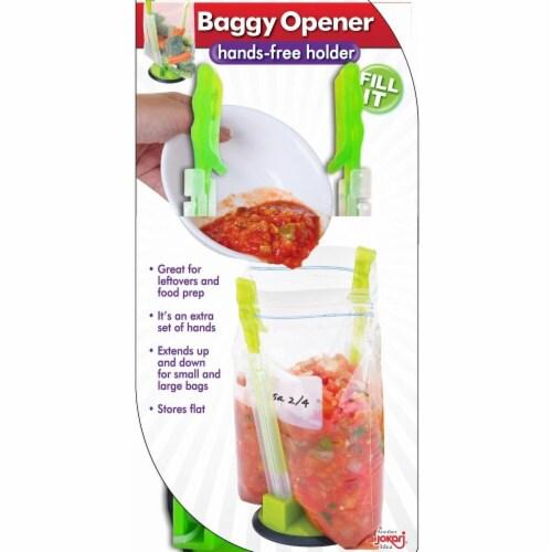 Jokari Hands-Free Baggy Rack Clip Food Storage Bag Holders, Set of 12 Perspective: front