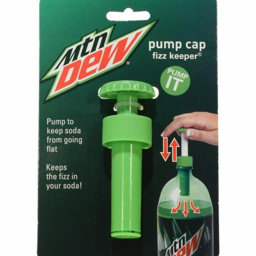 Jokari 18310P2 Mountain Dew Modern Logo Fizz Keeper Soda Bottle Pump Caps, Set of 2 Perspective: front