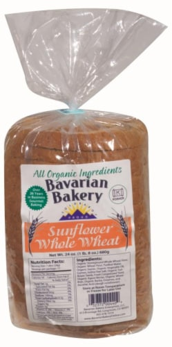 Bavarian Bakery Organic Sunflower Whole Wheat Bread Perspective: front