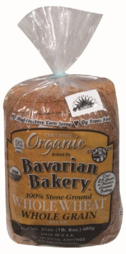 Bavarian Bakery Organic Stone Whole Wheat Bread Perspective: front
