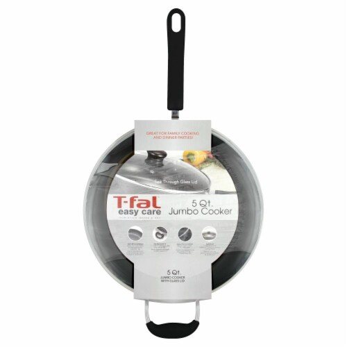 T-Fal Jumbo Cooker with Lid - Black Perspective: front