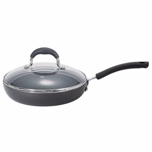 T-Fal Ultimate Hard Anodized Black Saute Pan Perspective: front
