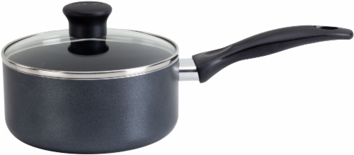 T-fal Easy Care Sauce Pan with Lid - Gray Perspective: front
