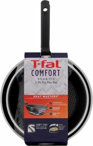 T-Fal Comfort Frying Pan Set - Black Perspective: front