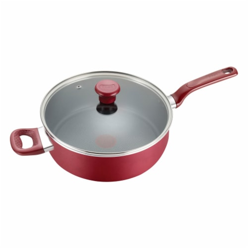 T-fal Excite Non-stick Covered Jumbo Cooker - Red Perspective: front