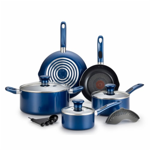 T-fal Excite Non-stick Cookware Set - Blue Perspective: front
