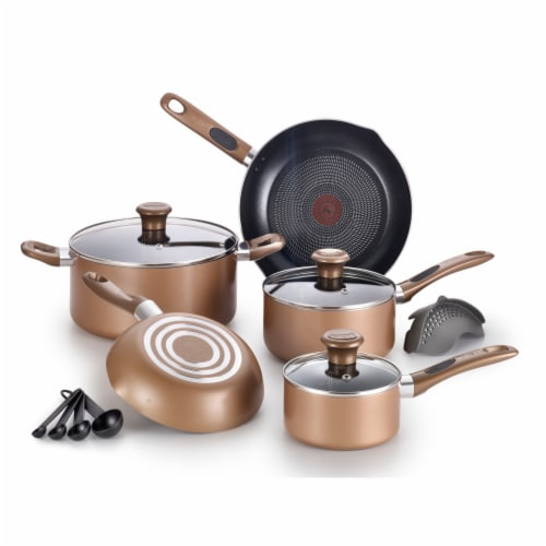 T-fal Excite Non-stick Cookware Set - Bronze Perspective: front