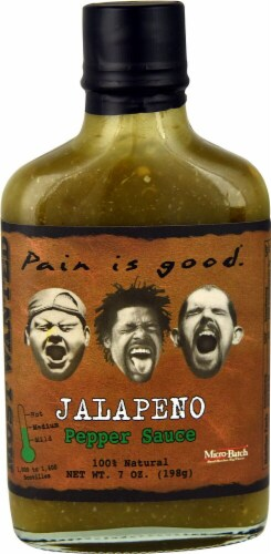 Pain Is Good  Pepper Sauce Medium   Jalapeno Perspective: front