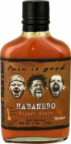 Pain is Good Habanero Hot Sauce Perspective: front