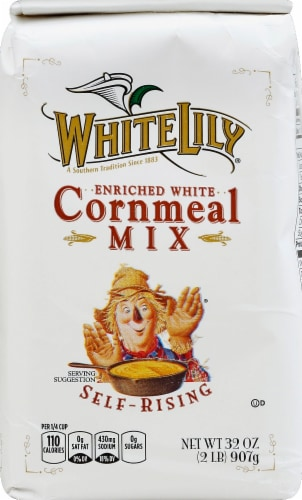 White Lily Self-Rising Enriched White Cornmeal Mix Perspective: front