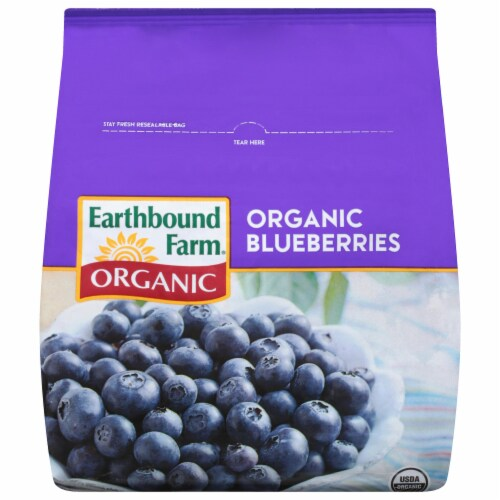Earthbound Farm Organic Blueberries Perspective: front