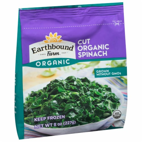 Earthbound Farm Organic Cut Spinach Perspective: front