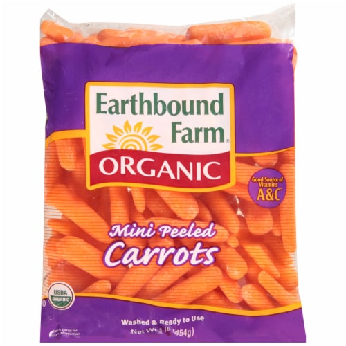 Organic Mini Peeled Carrots Perspective: front