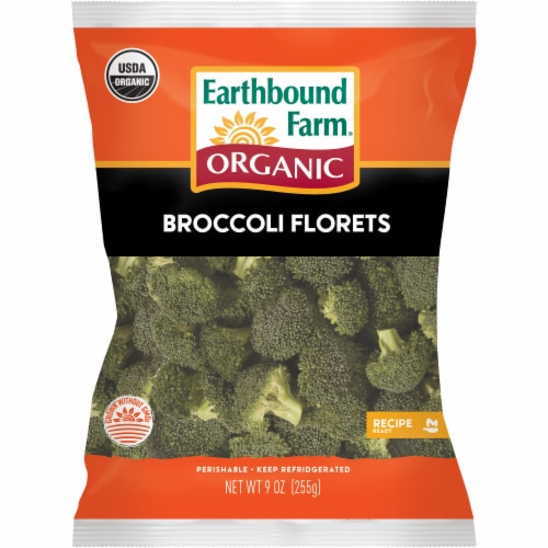 Earthbound Farm Organic Broccoli Florets Perspective: front