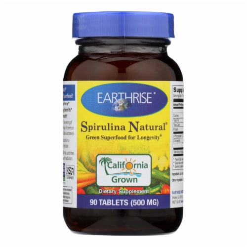 Earthrise Spirulina 500mg Dietary Supplement Perspective: front
