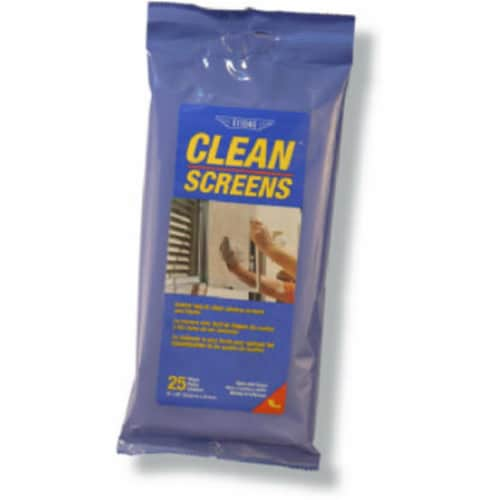 Ettore Screen Cleaner 25 pk Wipes - Case Of: 12; Each Pack Qty: 25; Total Items Qty: 300 Perspective: front