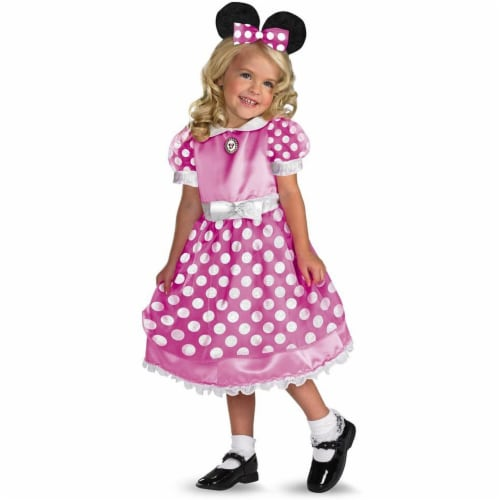Clubhouse Minnie Mouse-Pink Costume L (4-6x) Perspective: front