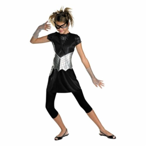 Costumes For All Occasions Dg50239T Spider Girl Black Suited 7-9 Perspective: front