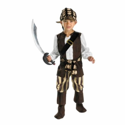 Costumes For All Occasions DG3211S Rogue Pirate Toddler 2T Perspective: front
