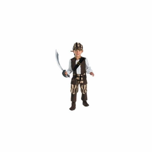 Disguise 150632 Rogue Pirate Toddler Costume - Brown - Size 4-6 Perspective: front