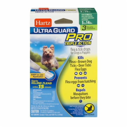 Hartz Ultra Guard Pro Triple Action Flea and Tick Drops for Dogs 5- 14 Lbs Perspective: front