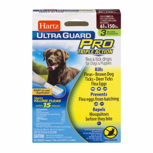 Hartz Ultra Guard Pro Triple Action Flea and Tick Drops for Dogs 61-150 Lbs Perspective: front