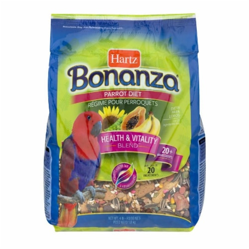 Hartz Bonanza Parrot Food Health and Vitality Blend Perspective: front
