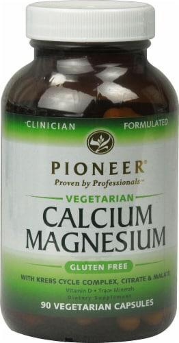 Pioneer  Vegetarian Calcium Magnesium Gluten Free Perspective: front