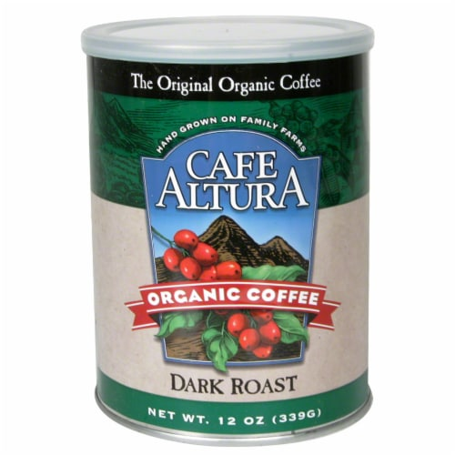 Cafe Altura Dark Roast Organic Coffee Perspective: front